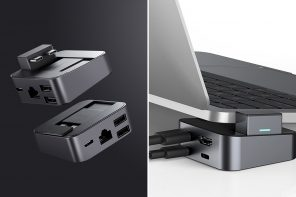 This tiny cubic USB-C hub doubles as a laptop stand, effectively cooling and charging your MacBook Pro!
