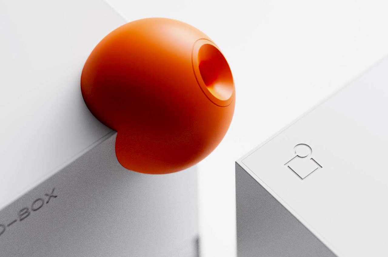 This vibrant geometric pencil sharpener brings some Braun inspiration to your desk!
