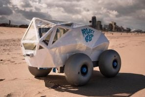 This Microsoft-powered AI-enabled robot cleans up cigarette butts littered on the beach!