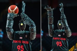 Tokyo 2021 Olympics gets a new showstopper – a basketball playing Japanese robot who made a flawless half-court shot!