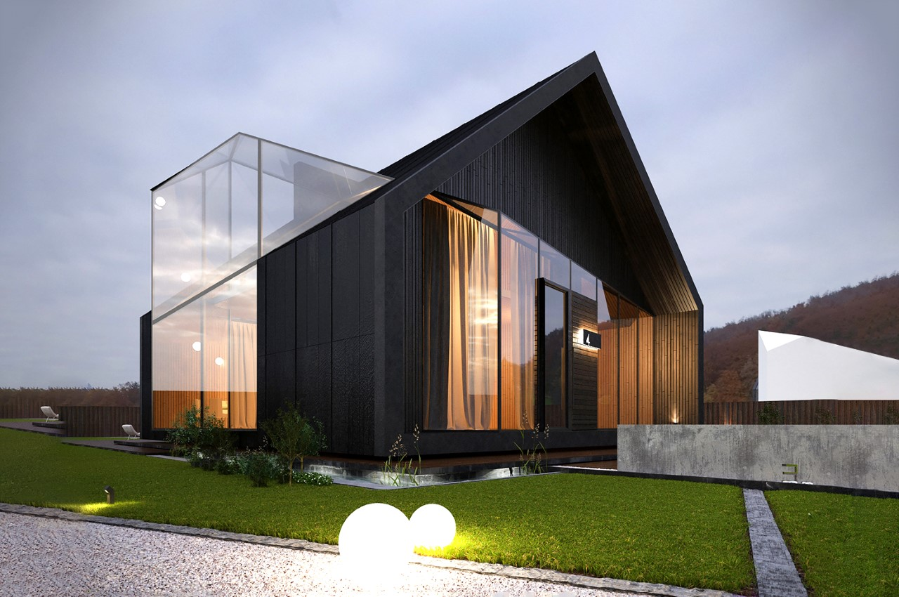 Stunning modern home comes with an all-glass conservatory that intersects through the architecture!