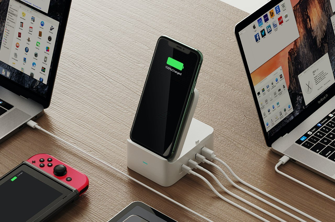 Declutter your desk with this compact GaN charger that can charge 5 devices at the same time