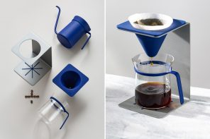 This sleek pour-over Coffee Brewer's stainless steel design will enhance making coffee at home!