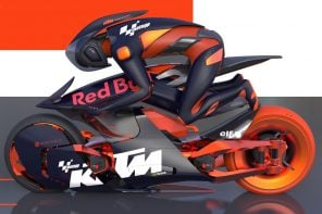 This KTM x Red Bull bike envisions riders using brain machine interface for a 2035 Moto-GP race