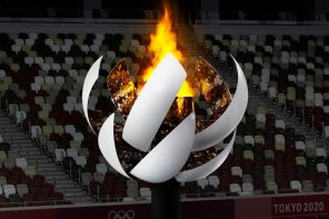 """Olympic Cauldron designed by Nendo """"blossoms"""" open to reveal the eternal fire of the Tokyo Olympics"""