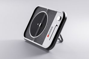 This turntable design pays homage to the retro feeling with minimal aesthetics and modern tech!