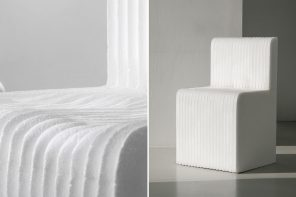 This Styrofoam chair is designed to replace your trusty lounger by adapting to your body shape over time!