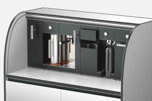 This Modular Café lets your 'pick and choose' your kitchen appliance, delivering an easily customizable station to brew your favorite coffee!