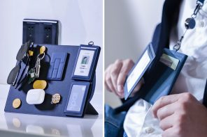 The 'MagEasy' wallet comes with magnetic modules that let you easily organize your belongings