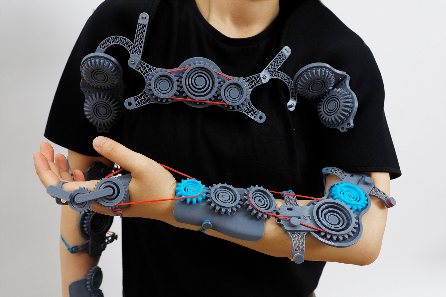This wearable assistive device designed to help stroke patients relearn muscle movements is modular and adaptable!