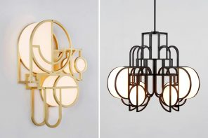 These Bauhaus-inspired chandeliers and wall-lamps add a touch of modernism to your interiors!