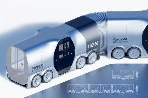 The Polestar 'Trambus' concept is a road/rail hybrid designed to make public transport modular
