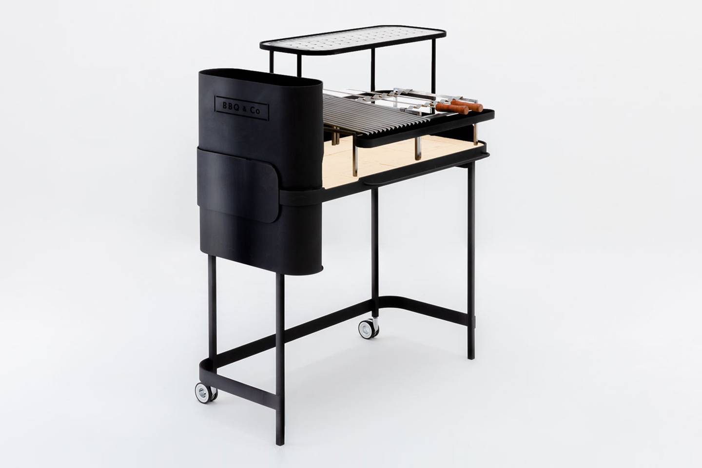 This Japanese wood-fired BBQ grill is a modern, minimal tool every cook wants!