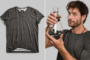 This black algae dyed t-shirt is Vollebak's latest creation designed to suck carbon-dioxide from the atmosphere!