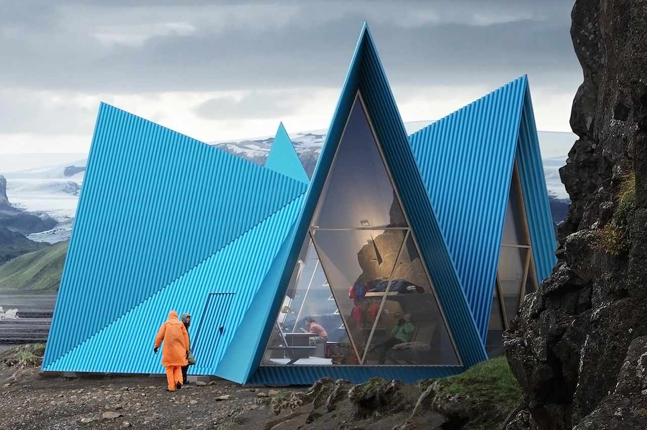 This prefab glamping cabin can be flat-packed to provide a cozy oasis when trekking in extreme weather!