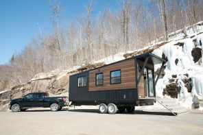 This micro house-on-wheels built to withstand extreme weather conditions was also designed for off-grid living!