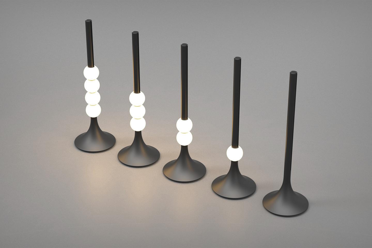A modular light fixture inspired by the abacus lets you add, subtract and have fun with your light setup!