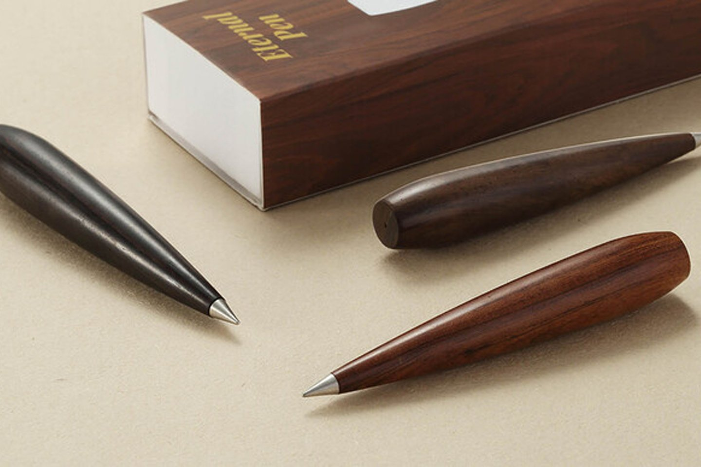 Made from silver and metal alloy, this ergonomic pen surpasses the regular wooden pencil with its ink-less design!