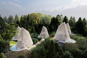 These conic ecotourism cabins designed with bamboo framing offer panoramic views of Mexico's natural beauty!