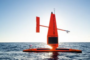 This fleet of autonomous 'saildrones' use solar and wind power to collect data during a hurricane!
