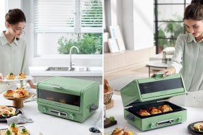 Morphy Richards multi-oven with unique lid mechanism exudes a refreshing classic vibe