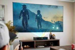 When was the last time you went to the movies? This 4K triple laser projector with Harman Kardon speakers ensures you'll never have to
