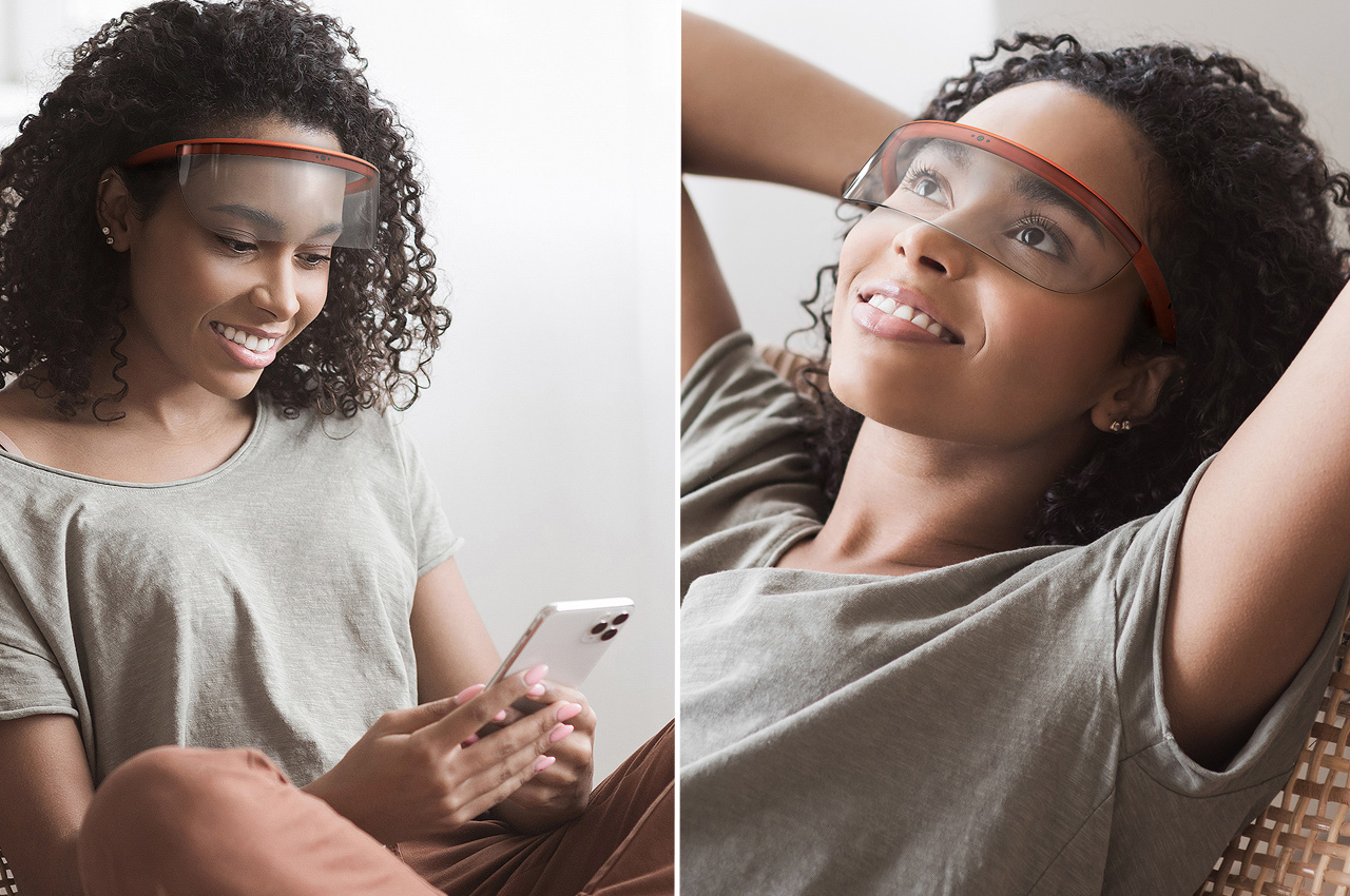 These ergonomic AR glasses are designed with a minimal interface to seamlessly blend into your life