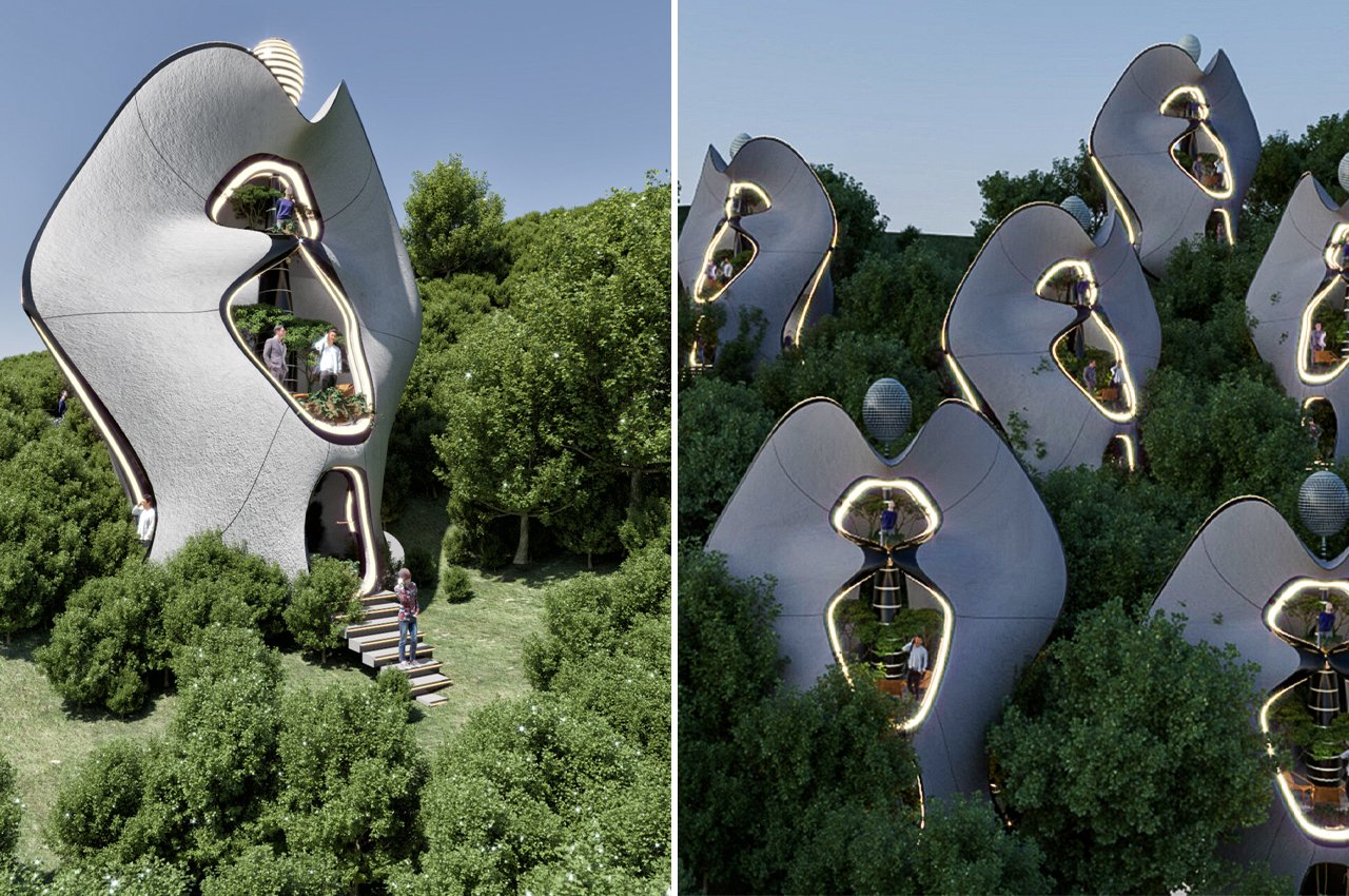 """These modular prefab homes could be the world's first to use a steel 3D-printed """"exoskeleton"""" construction system!"""