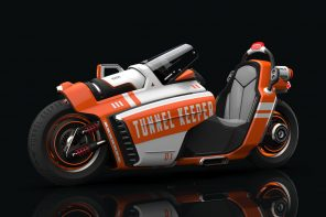 This firefighting bike is designed to aid and assist tunnel accident rescue missions