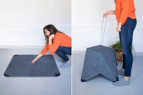This rug doubles up as seating – we can't get enough of it's transforming furniture design!