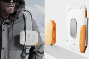 This ultra-portable oxygen concentrator the size of a hard disc straps on to your backpack with almost 0 weight