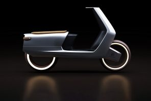 Meet Beospeed, an electric scooter that showcases steel edges + classic leather accents for its aesthetic inspiration