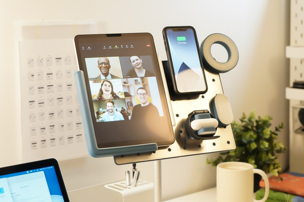 This Zoom-friendly charging station elevates + charges everything from your iPad to your laptop, making it the complete WFH package!