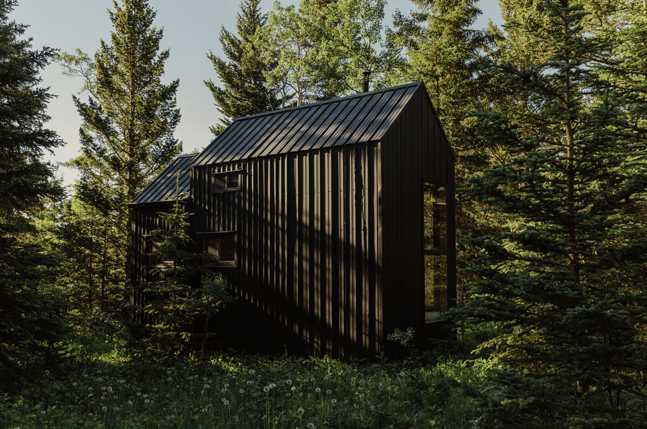 Two DIYers built this off-grid micro-cabin from repurposed steel and recycled building material for almost no cost!