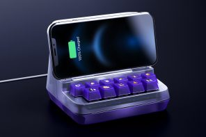 This funky wireless charger with Twitch emote keys lets you react to livestreams as your phone charges