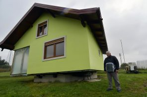 Bosnian man builds a spinning home for his wife that can complete a full rotation in only 22 seconds!