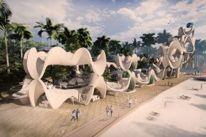 These prefab coral shaped structures are designed to be self-sustaining centres for the coastal community!