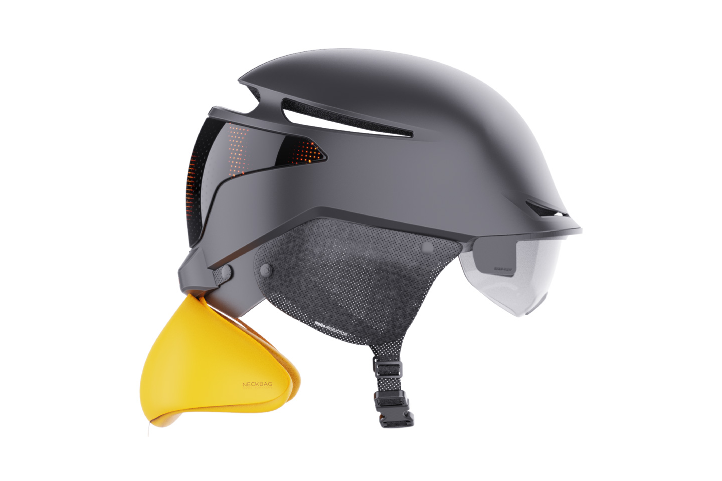 'Innovative Bicycle Helmet with auto-deploying neck airbag' wins Bronze at the YD x KeyShot Design Challenge