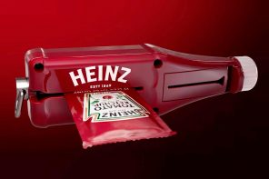 Heinz designed the perfect roller-squeezer to extract 100% of the ketchup from their sachets