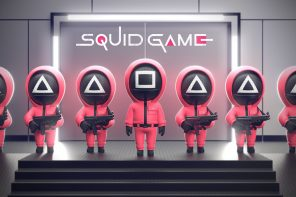 Squid Game home security camera guards your home, keeping you safe without any violence!