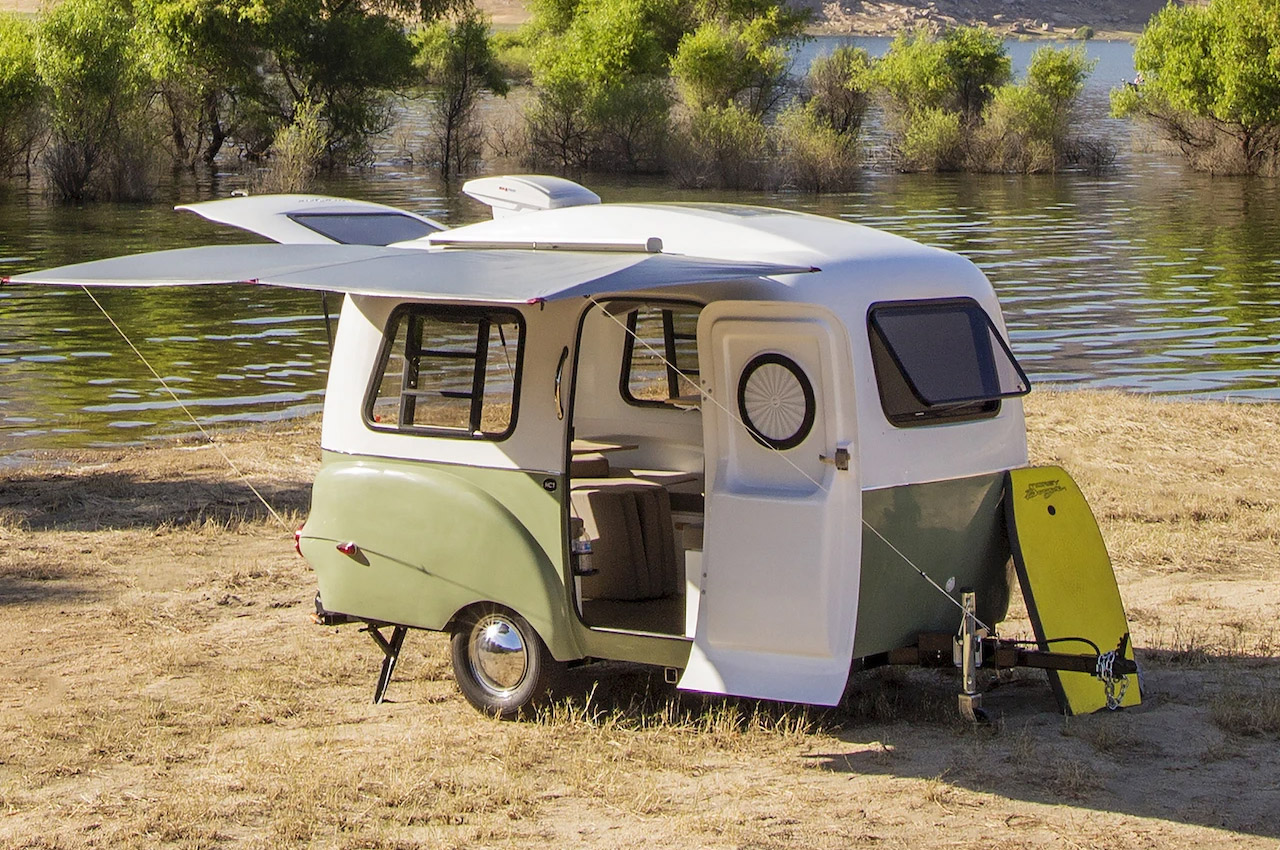 This almost-retro looking modular camper brings ultra-flexibility to your outdoor life!