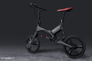 This sleek, portable e-bike made from a single piece of aluminum has a unique three-fold mechanism