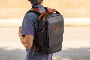 This ergonomic urban-friendly backpack was co-designed with chiropractors to support your spine