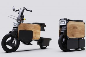 This folding electric bike shrinks to the size of a CPU, fitting under your desk!