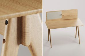 This minimal desk comes with modular parts, creating a versatile design that meets your creative needs!