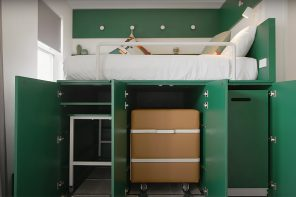 This multifunctional furniture system designed to create more living space is the solution tiny apartments need!